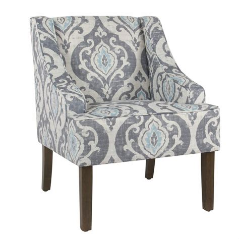 Barkley Geometric Pattern Fabric Upholstered Wooden Side Chair
