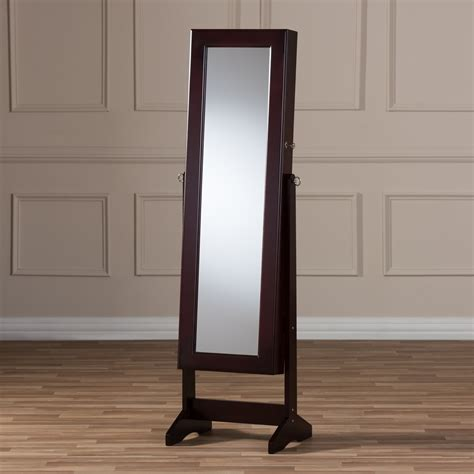 Barleria Wood Jewelry Armoire with Mirror