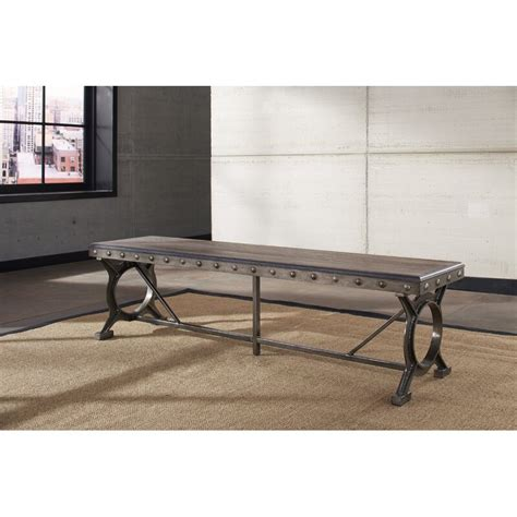 Barlow Metal/Wood Bench