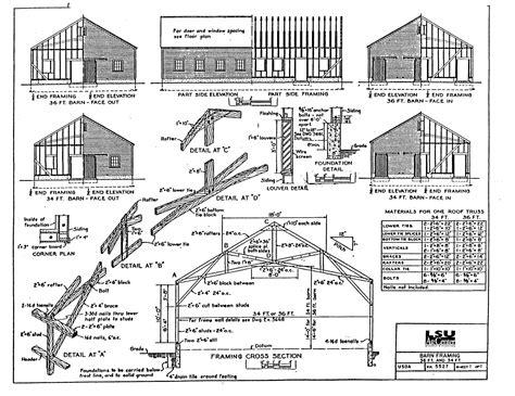 Barn Framing Plans
