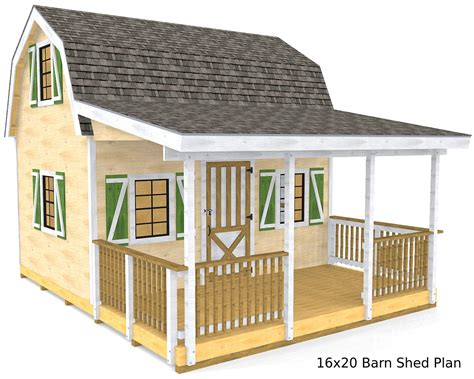 Barn Shed Plans 16 X 20