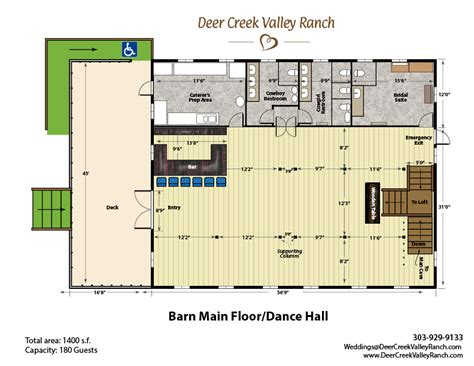 Barn Venue Floor Plans