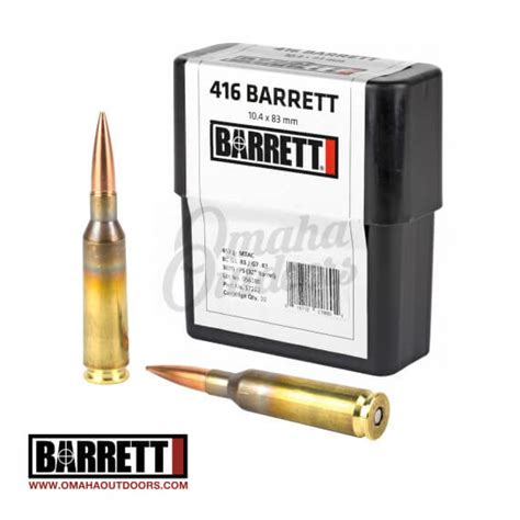 Ammunition Barrett 416 Ammunition For Sale.