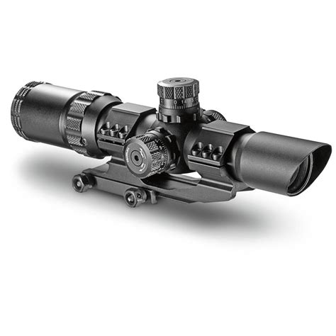 Gun-Shop Barska Swat-Ar 1-4x28mm Illuminated Mil-Dot Rifle Scope.