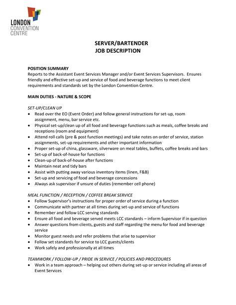 Resume Templates Bartenders Free   Simple Resume Template Vol 2 ...