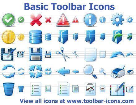 Credit Card Icons Set Basic Icons For Toolbars And Menus Basic Toolbar Icons