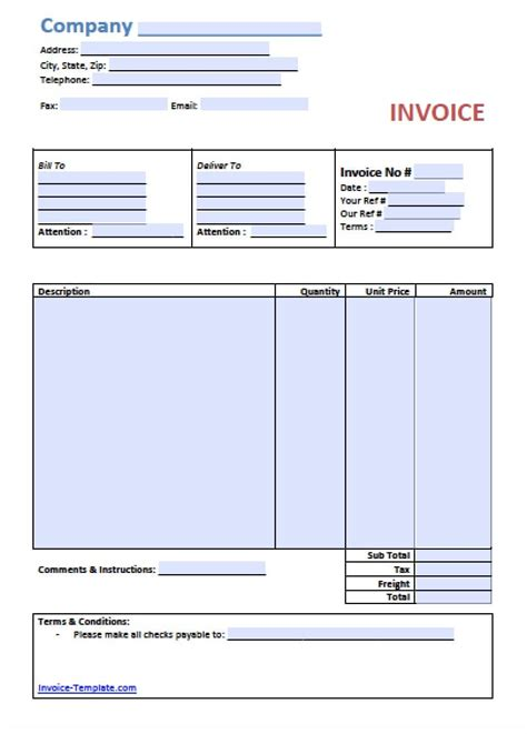 Basic Invoice Template Xls Experience Columbus Foundation - Invoice template xls