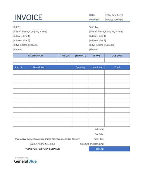 download basic invoice template pages | rabitah, Invoice templates