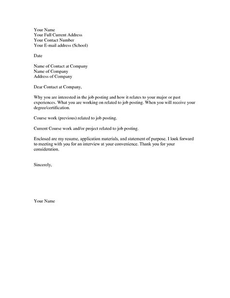 basic resume cover letters