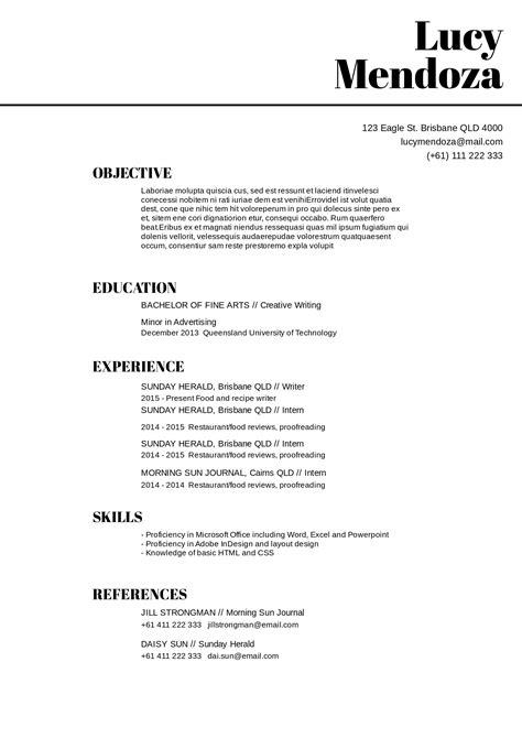 basic resume template word 2010 free resume template for microsoft word vertex42