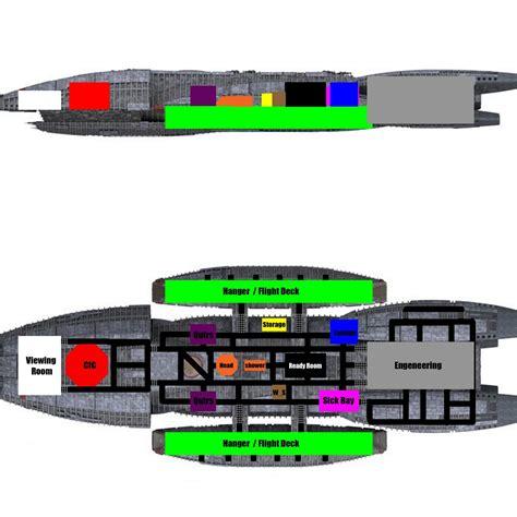 Battlestar Galactica Deck Plans