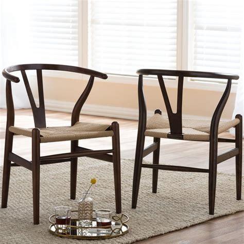 Baxton Studio Chair in Dark Brown Barrel Chair