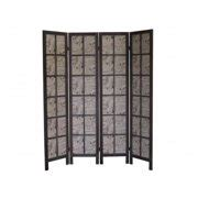 Baynes 67 x 60 Paris Folding Screen 4 Panel Room Divider