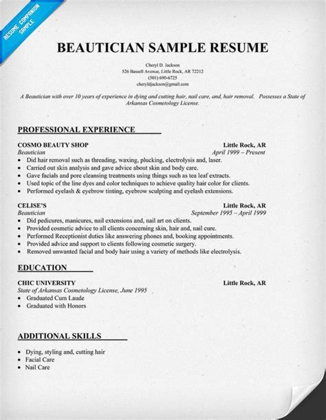 beautician job description resume beautician resume samples jobhero - Beautician Job Description