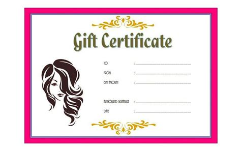 Salon gift certificate template yelopaper Choice Image