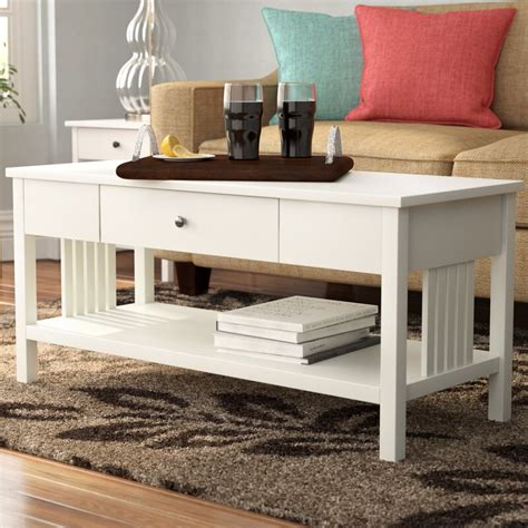 Bechtel Mission Style Wood Coffee Table