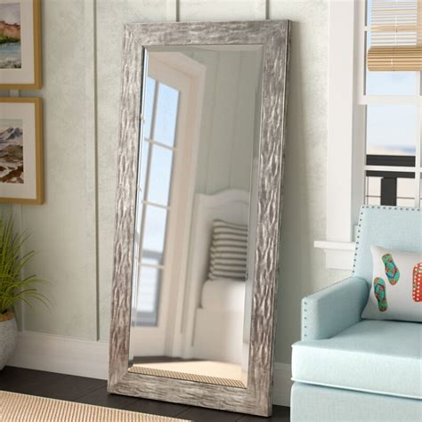 Beckette Hammered Coastal Beveled Distressed Bathroom/Vanity Mirror