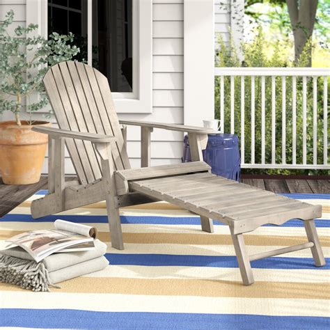 Belford Solid Wood Adirondack Chair with Ottoman (Set of 2)