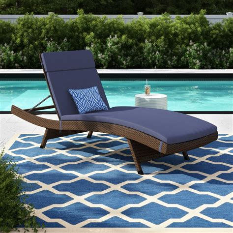 Bellview Reclining Chaise Lounge with Cushion (Set of 2)
