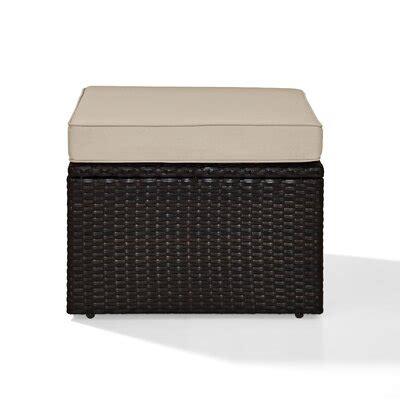 Belton Outdoor Ottoman with Cushion