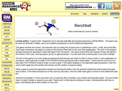 Bench Ball Lesson Plans