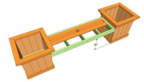 Bench Planter Box Plans
