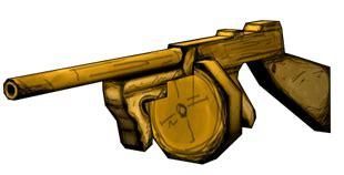 Tommy-Gun Bendy Tommy Gun.