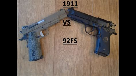 Beretta Beretta 92fs Vs 1911 Accuracy.
