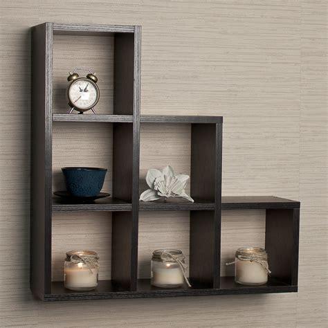 Bermondsey Stepped 6 Cubby Decorative Wall Shelf