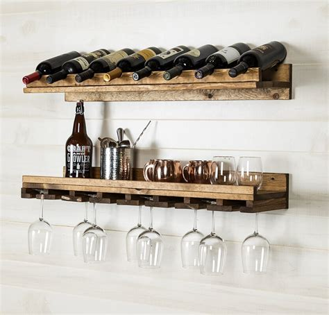 Bernon 5 Bottle Wall Mounted Wine Bottle Rack (Set of 2)