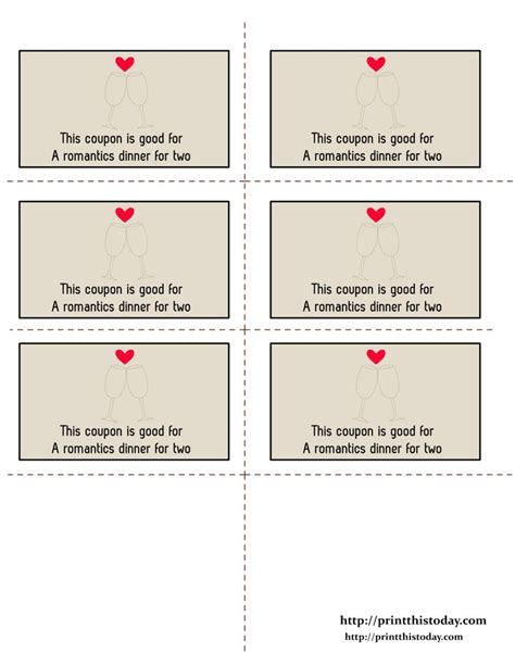 coupon book template for boyfriend