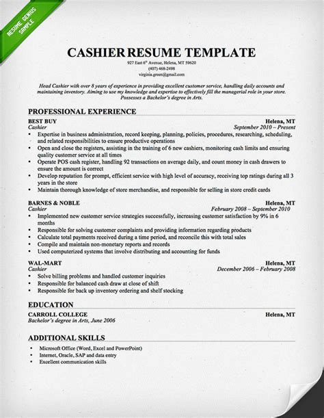 best cashier resume advertising agency resume objective