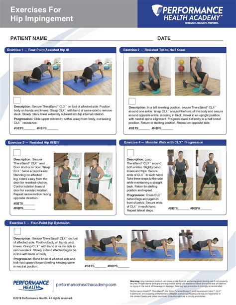 best exercises for hip impingement symptoms
