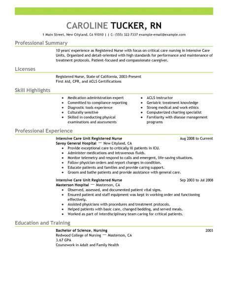 icu nurse resume job description best intensive care nurse resume example livecareer - Job Description Of An Icu Nurse