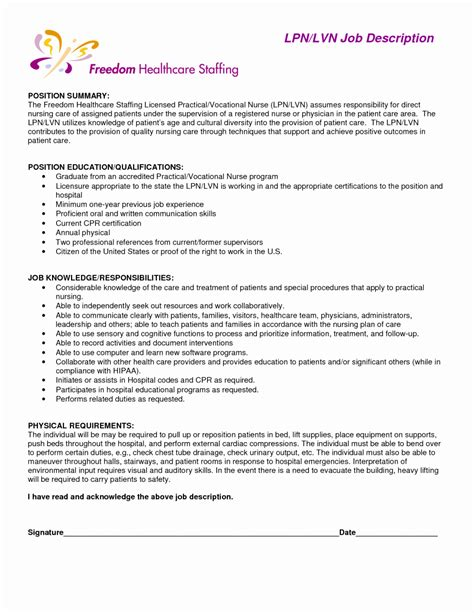lpn resume writing guide and sample sample resumes example of a