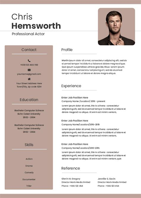 best paper for acting resume free acting resume template examples ms word