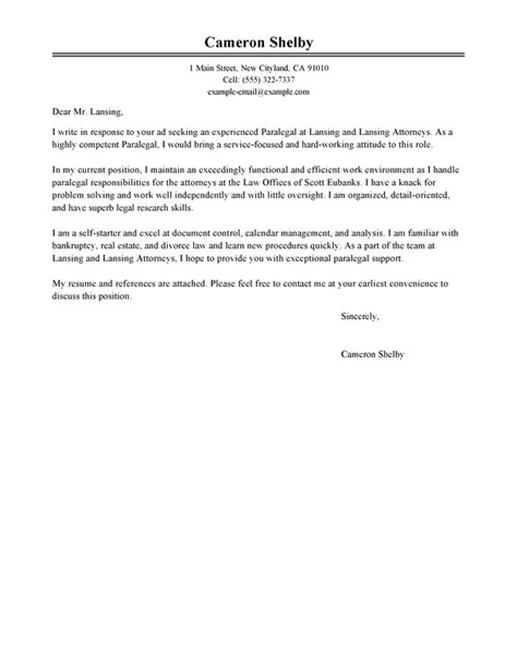 related post for paralegal internship cover letter - Immigration Paralegal Cover Letter