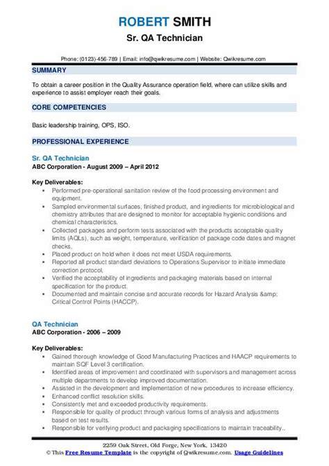 best qa resume samples technician resume samples best sample resume - Qa Resume Sample