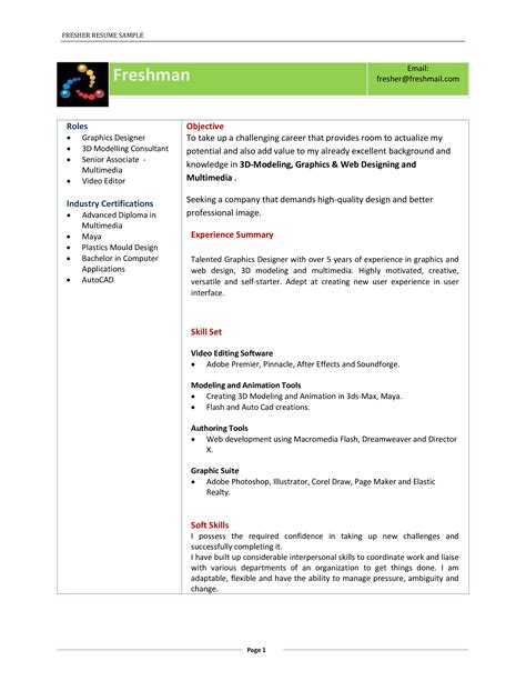 Best Resume Download 8 Freshers Resume Samples Examples Download Now