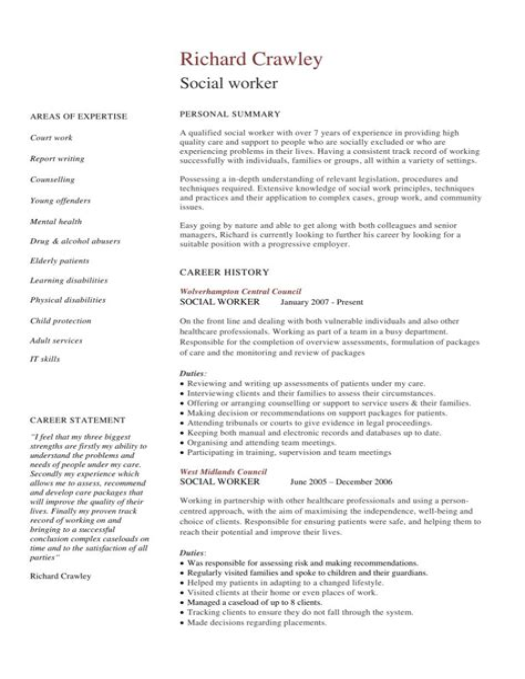 Functional resume format for social worker