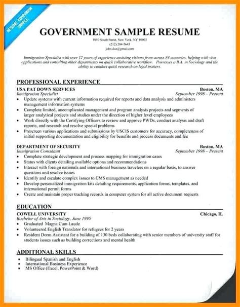 Best Resume Format Federal Jobs Federal Job Resume Writers Creating A Federal Resume