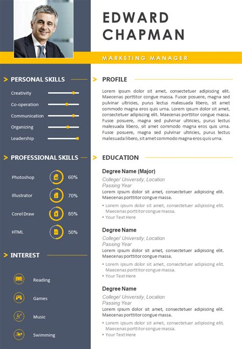 best resume format ppt best powerpoint resume templates for download