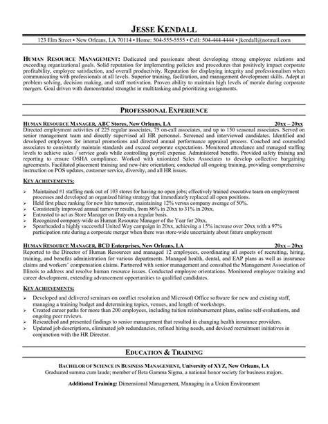 Best Sample Of Resume Pdf Hr Director Resume Sample One Hr Resume