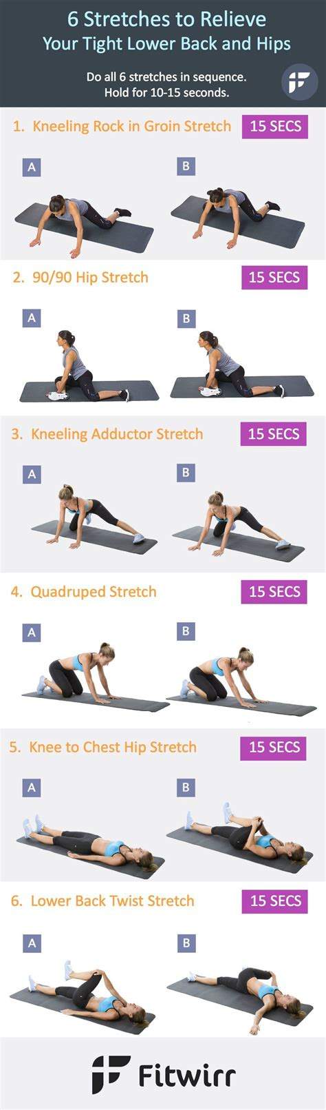 best stretches for lower back tightness stretches before running