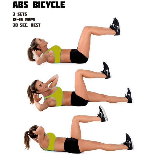 bicycle exercise abs benefits