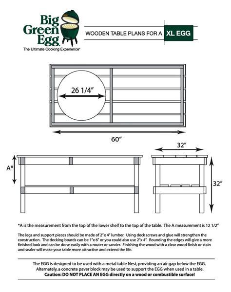 Big Green Egg Table Dimensions