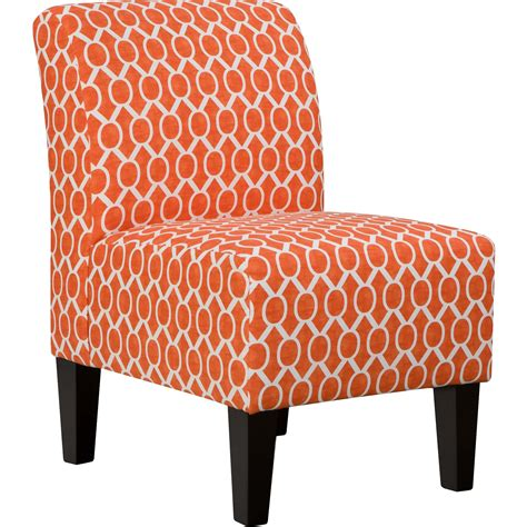 Biggins Side Chair in Orange by Simmons Upholstery