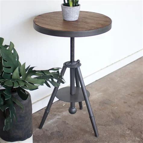 Biggs Adjustable Wood/ Metal End Table