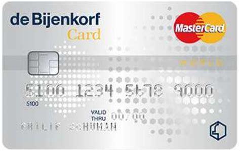 Bijenkorf Card Credit Card Alle Creditcards Vergelijken Informatie Online Aanvragen