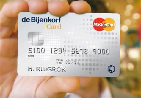 Bijenkorf Card Credit Card Yourmastercard Prepaid Creditcard Ics Cards 2 Gratis